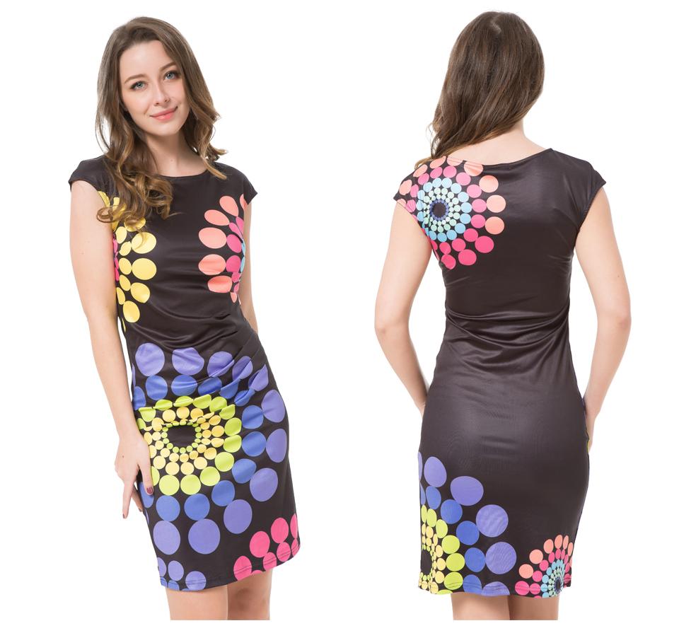 17 Kaige Nina dress Women bodycon dress plus size women clothing chic elegant sexy fashion o-neck print dresses 9026 12