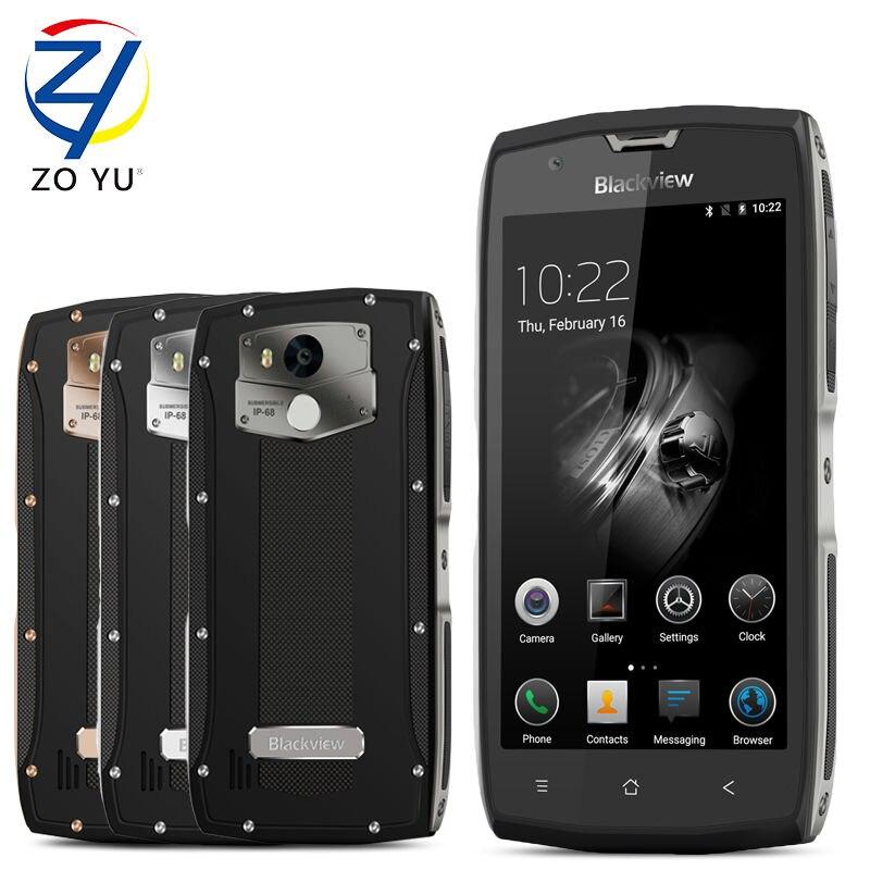 "Цена за Blackview bv7000 pro ip68 водонепроницаемый смартфон 4 ГБ + 64 ГБ 13mp мобильный телефон 5.0 ""fhd mt6750t octa ядро android 6.0 сотовый телефон"