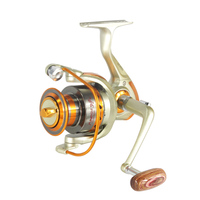 500 9000 Series Metal Superior Spinning Fishing Reel Ratio 5 2 1 12BB Wood Handle Fishing