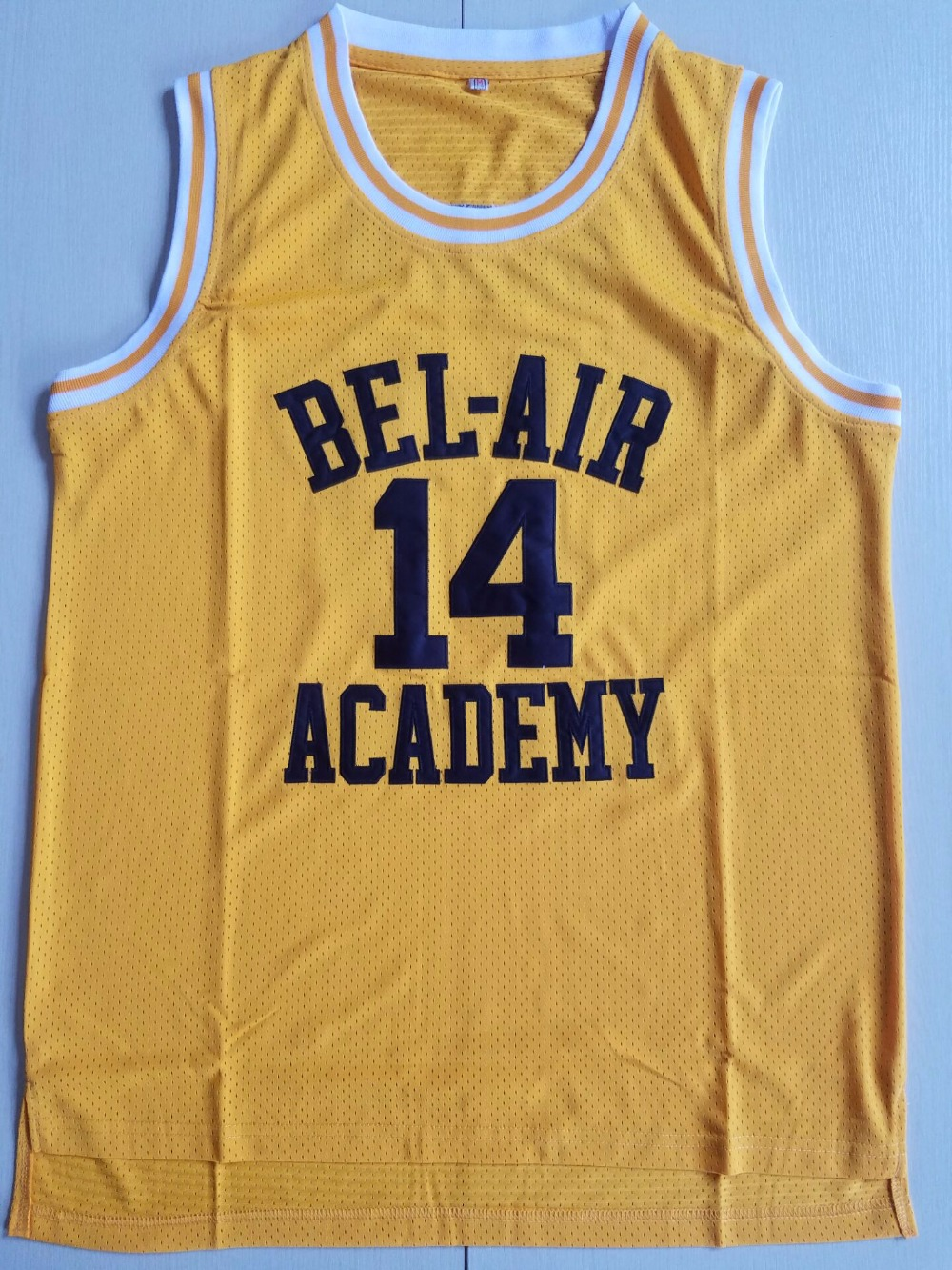 BONJEAN Cheap Throwback Basketball Jerseys 14 Will Smith Bel Air Academy  Yellow Jersey Stitched Retro Mens Shirts 3c2ccb53a1e3