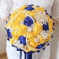 Elegant Wedding Bouquet Handmade Artificial Flower Rose Bridal Bouquet For Wedding Decoration