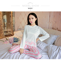 New 2016 Autumn Winter Womens Pajama Sets O-Neck Long Sleeve Women Sleepwear Pajamas Girls Woman Pyjama Femme Plus Size XXL