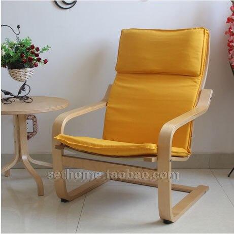 Nordic IKEA Holz Sessel Stoff Liege Den Wohnzimmer Stuhl Balkon