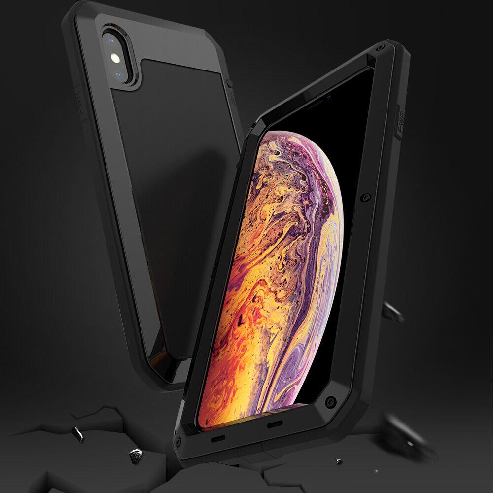 Tikitaka Heavy Duty Schutz Doom rüstung Metall Aluminium telefon Fall für iPhone XS Max XR 6 6 s 7 8 plus X 5 s SE Stoßfest abdeckung