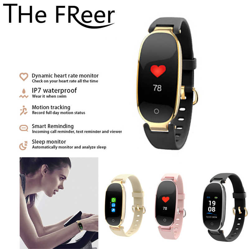 Bluetooth Waterproof S3 Smart Watch Fashion Women Ladies Heart Rate Monitor Fitness Tracker Men Smartwatch For Android IOS
