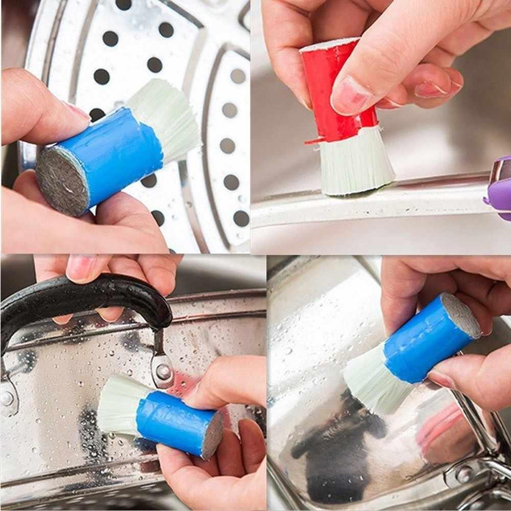 Szczotki do czyszczenia garnka 1PC pręt ze stali nierdzewnej Magic Stick odrdzewiacz szczotka do mycia czyszczenia wytrzeć Pot utensilio de cozinha * 913