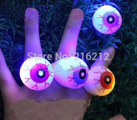 Halloween LED Flashing Soft Rubber Eye Ring Kids Toys Novelty Design Party Decoration Supplies Christmas Gift For Adults Child