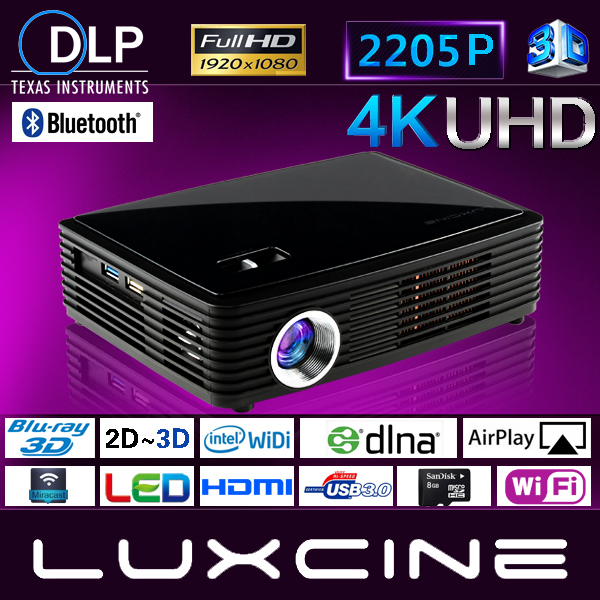 4K UHD Smart 3D Projector / 4K Video Proyector / 1500