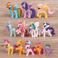 12pc/Set 7cm Kids Gift PVC Model Cute Cartoon Pets Horse Princess Unicorn Poni Luna Action Figures Dolls Girls Cartoon Toy RT116