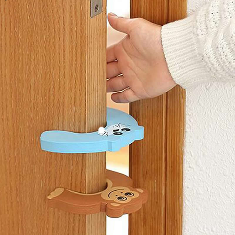 5pcs/lot Silicone Doorways Gates Decorative Door Stopper Baby Safety Care Cartoon Animal Jammer Kid Children Protection