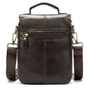 Image 4 - WESTAL shoulder bag for men Bag Mens Genuine Leather messenger bags Small Flap man male Crossbody bags leather man handbag8558