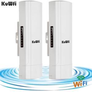 Image 5 - KuWFi Outdoor CPE Router Wifi Repetidor Wifi Extender 2 Pics Distanza di Trasmissione Fino A 3 KM di Velocità Fino A 300 mbps Wireless CPE