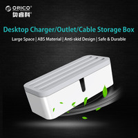 ORICO Cable Management Electrical Outlet Boxes For Power Strip Multi Charger Wire Arranging Ties Cord Organizer