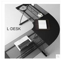 Компьютерный стол. угловой стол .. домашний настольный закаленное стеклянный стол.