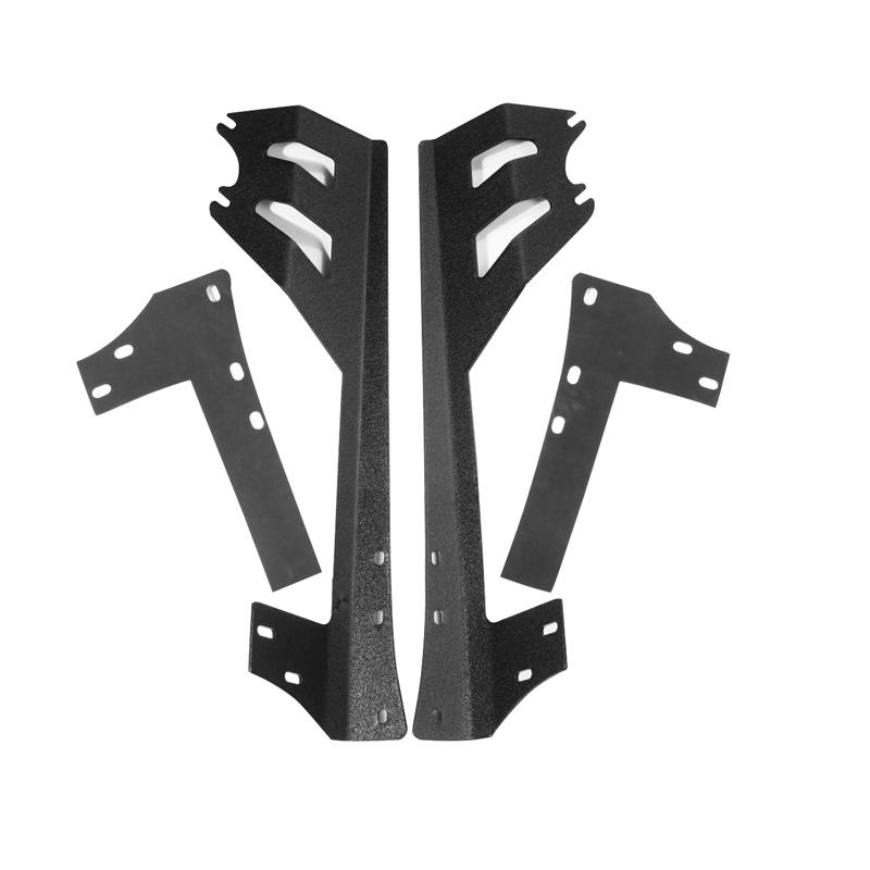 Auxmart 50inch Straight Light bar Brackets Mounting for Jeep Wrangler JK 2DR/4DR 2007~2018 LED Work Light bar Lamp Holder Mount 4pcs black led front fender flares turn signal light car led side marker lamp for jeep wrangler jk 2007 2015 amber accessories