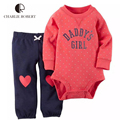 2Pcs Baby Clothing Baby Girl Bodysuit Pants Set Kawaii Newborn Infant Jumpsuit Cotton Long Sleeve Children Costume Girl Clothes