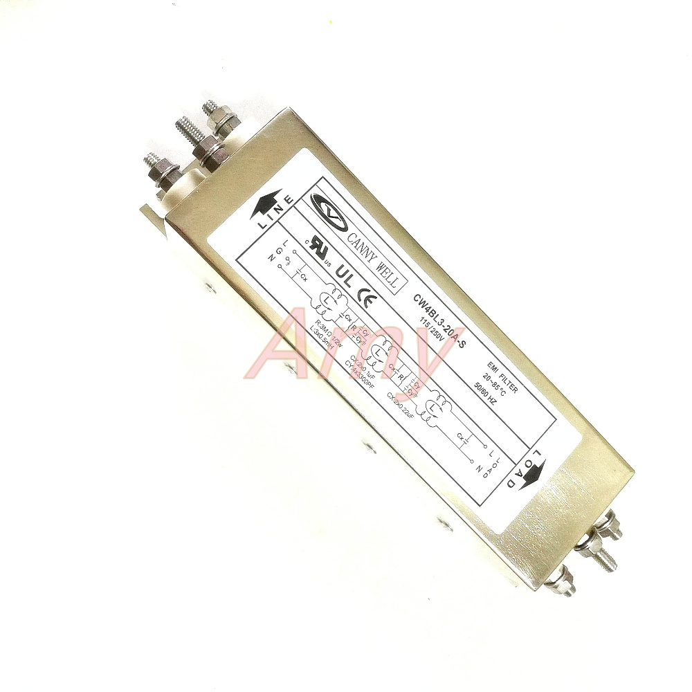 Power EMI three level filter CW4BL3 10A 20A S AC 250V