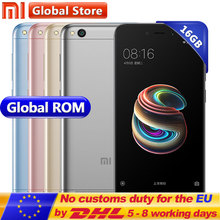 "Original Xiaomi Redmi 5A 5 A 16GB ROM 2GB RAM Snapdragon S425 Quad Core Mobile Phone MIUI9 13.0 MP + 5.0MP 3000mAh 5.0"" 1280*720(China)"