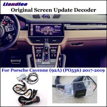 Liandlee For Porsche Cayenne 92A PO53 Original Display Update System Car Rear Reverse Parking Camera Decoder Reversing system
