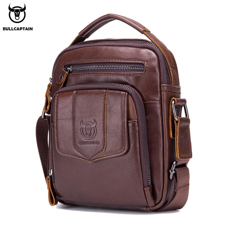 Zielsetzung Bullcaptain 100% Mode Leder Herren Schulter Tasche Messenger Taschen Business Männer Hohe Qualität Bolsas Marke Fashions Gepäck & Taschen