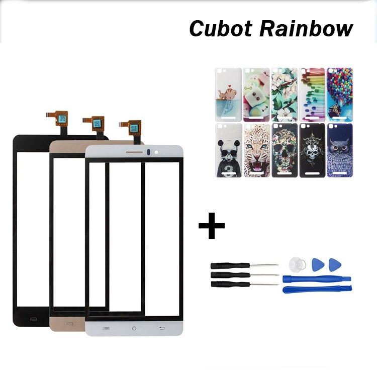 imágenes para Original de la Pantalla Táctil Para Cubot Rainbow Rainbow Perfecta Reparación de Piezas de Panel Táctil para Cubot + Colorful Pintado Caso + En Stock