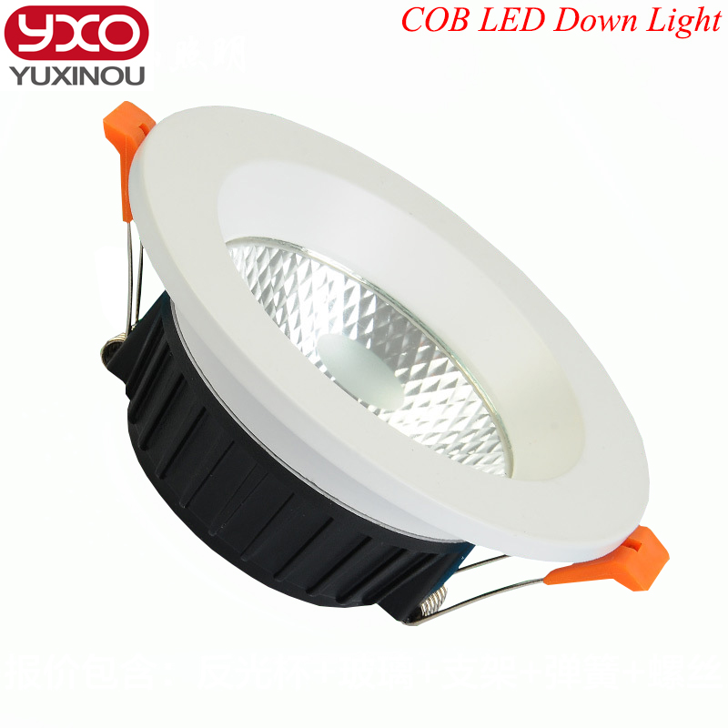 Dimmable LED Downlight 5W 7W 9W 12W 15W 18W 20W 85-265V COB LED DownLights Dimmable COB Spot Recessed Down light Light Bulb free shipping ultra bright gu10 dimmable 9w cree led cob spot down light bulb 85 265v