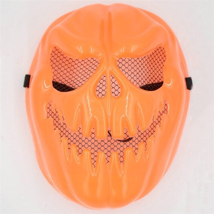 10PcsSet Halloween Party Supplies Horror Pumpkin Face Resin Mask Cosplay Photo Props Halloween Terrorist Mask A8A65 (3)