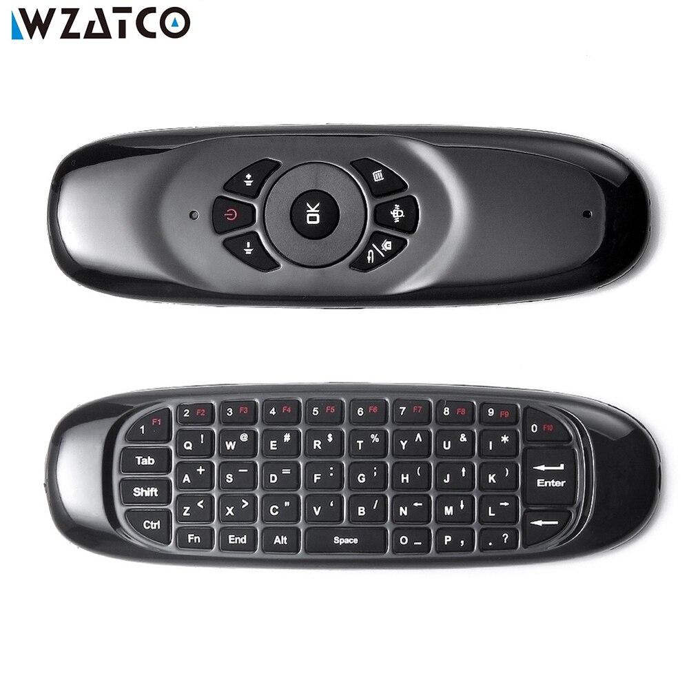 C120 Мини Fly 2,4G беспроводной игровой пульт для ПК Android TV BOX, WZATCO Android проектор, датчик движения геймер Air Mouse