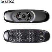 C120 Mini Fly 2,4G juego inalámbrico control remoto para PC Android TV caja WZATCO Android proyector detección de movimiento Gamer ratón de aire