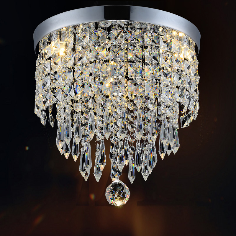 New Hot Sell Contemporary Luxury Crystal LED Ceiling Light Fixture Lamp Hallway Lighting For Kitchen Foyer CL123 new 20cm led crystal ceiling 1 light fixture pin lamp lighting prizm chandelier