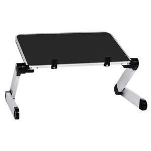 Image 2 - Aluminum Alloy Table Ultralight Portable Folding Laptop Tables Sofa Bed Office Laptop Stand Desk Computer Notebook Bed Table