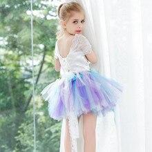 Детская одежда Лоскутное Девушки Пачка платье Принцессы платье/Девушки костюмы Случайные Коротким рукавом Дети платья для девочек