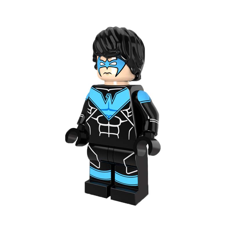 Single Sale Nightwing Mini Dolls DC Superheroes Batman Series Justice League Building Blocks Toys For Children PG211 new lp2k series contactor lp2k06015 lp2k06015md lp2 k06015md 220v dc