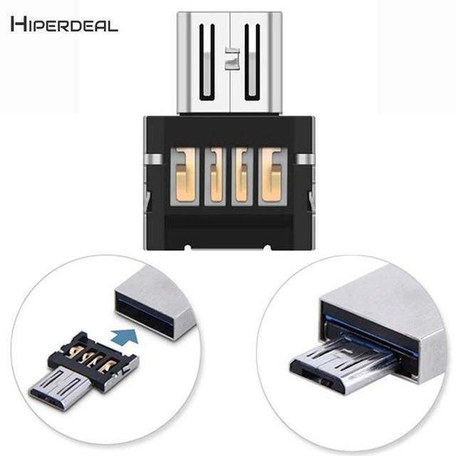 HIPERDEAL ミニ USB 2.0 マイクロ USB OTG 変換アダプタ携帯電話米国の USB Otg アダプタに Pc 電話デバイス BAY13