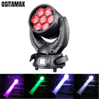 Bee Eye Zoom LED Zoom Beam Moving Head Light 7x40w RGBW 4IN1 DMX512 LED Luces Beam Mini Disco Stage Light