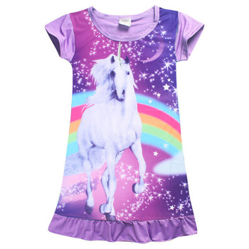 Toddler Kids Unicorn Princess Dress