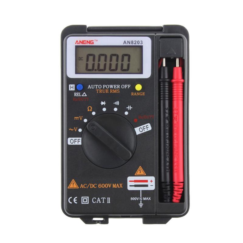 ANENG AN8203 Handheld Pocket Digital Multimeter DMM Integrated Personal Handheld Pocket Mini Digital AC/DC Multimeter Tester цена