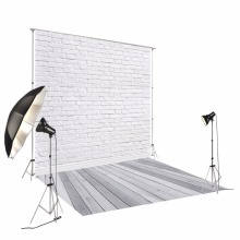 5x10ft(1.5x3m) light wood floor studio photo background backdrop made of thin vinyl white bricks for newborn photography D-9713 11 11 double 11 photo background grey wood floor studio vinyl white bricks photography backdrop for pets cakes photos d 9713