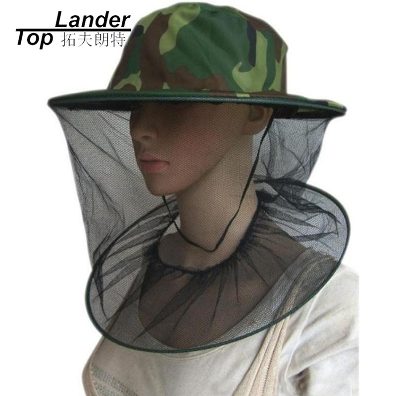 Mosquito Netting On The Head Anti Midge Mosquito Hat Net Mesh Head Net Face Protector Outdoor Camping Hiking Camouflage Cap Hap Selling Well All Over The World Sports & Entertainment