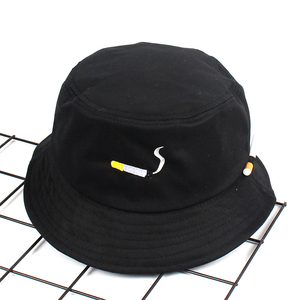 2020 Cigarette Embroidery Bucket Hat Men Women Hip Hop Fishing Cap Adult Panama Bob Hat Summer Lovers Flat Hat Cotton NO CHILL(China)