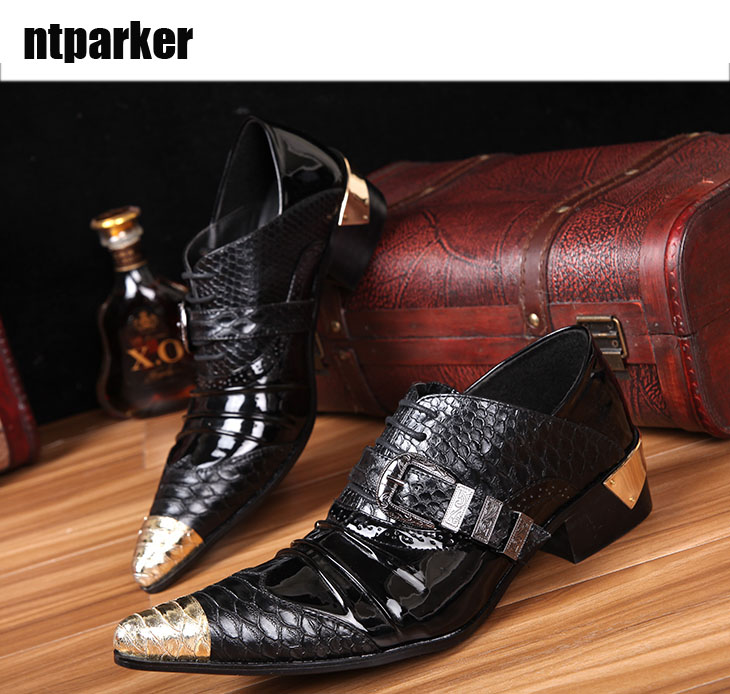 Ntparker Italienische Marke Designer Schuhe Spitz Künstler