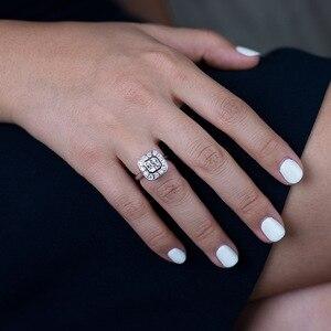 Image 4 - OneRain Vintage 100% 925 Sterling Silber Saphir Topas Citrin Diamanten Hochzeit Engagement Paar Frauen Männer Edelsteine Ring Schmuck