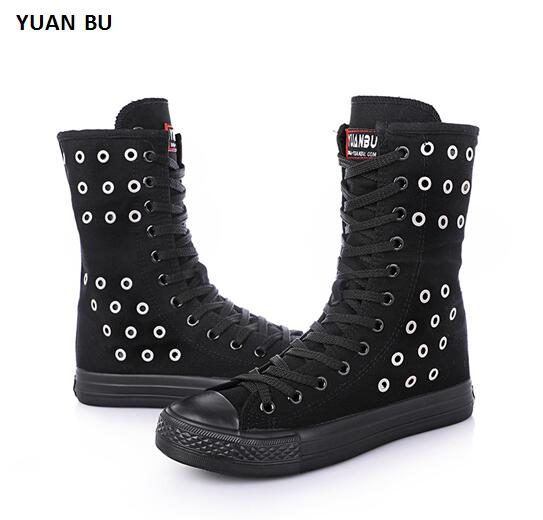 Solds Stoma Cross-ti Boots Women 2018 New Spring and Summer Short Canister Side Zipper Side Canvas Shoe Casual Shoes Flats the new spring and summer ms south korea ensure their boots comfortable show female water thin antiskid tall canister shoe