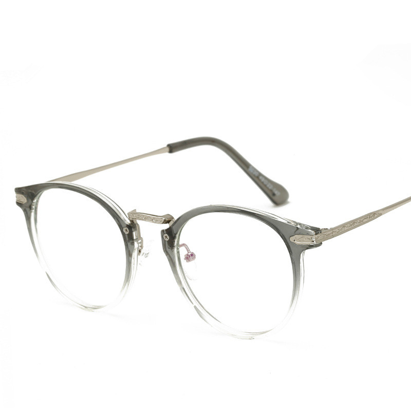 1e5837f3524 Gcczsy New Style Vintage Blue Membrane Plain Glasses Women Men Round TR90 Eyeglasses  Frame Female Male Goggles Computer Glasses-in Eyewear Frames from ...