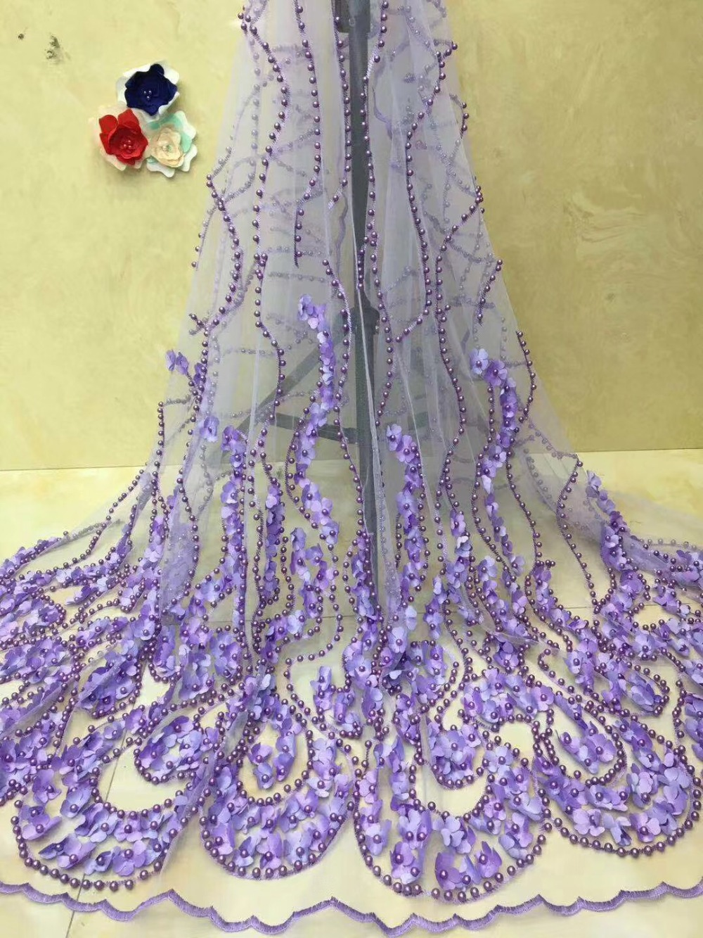 Latest French Nigerian Lace Fabric High Quality Tulle African Lace Fabric For Wedding African French Tulle Lace FabricLatest French Nigerian Lace Fabric High Quality Tulle African Lace Fabric For Wedding African French Tulle Lace Fabric