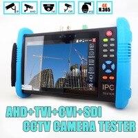 7 дюймов ips Сенсорный экран H.265 4 К IPC 9800 плюс IP Камера Тестер CCTV CVBS Аналоговый тестер Встроенный Wifi Двойная окна тестер