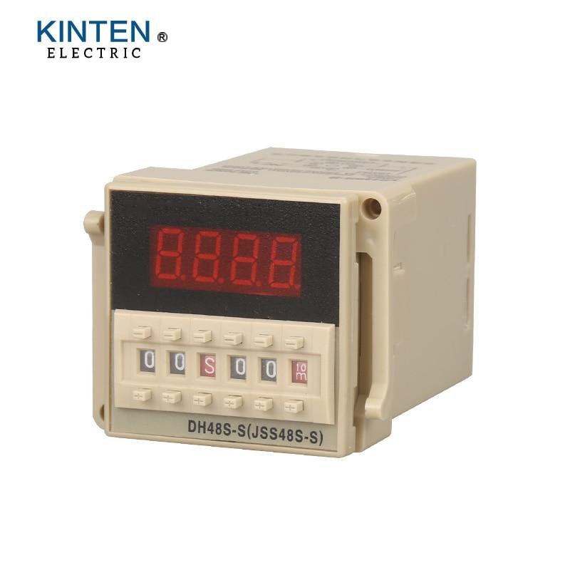 DH48S series DH48S-S time relay / timer / counter with socket / base (AC 220V 110V 380V 36V DC/AC 24V 12V alternative) 12v time delay relay dh48s 2z 12v timer relay with socket