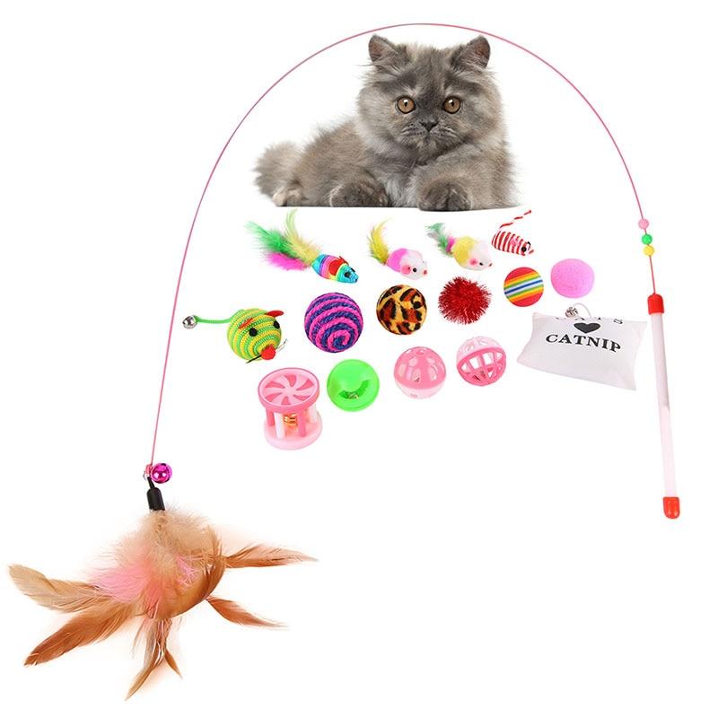 16 PPC / Set Juguetes Variedad Paquete Gatos Divertido Ratón Catnip - Productos animales - foto 2