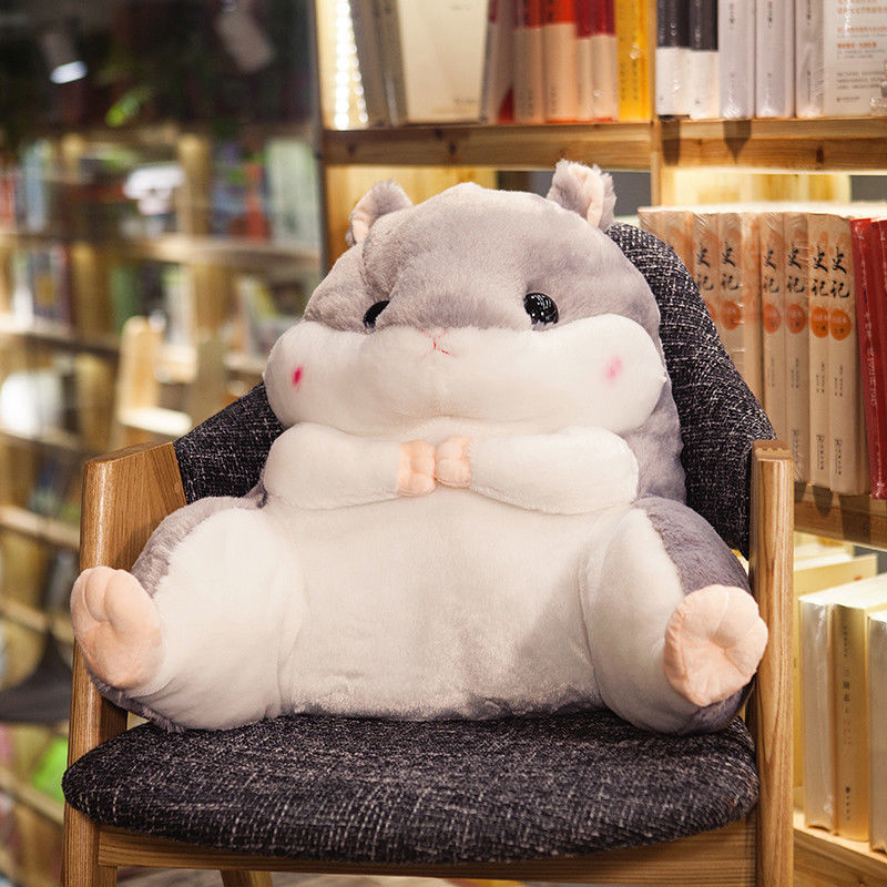50cm Plush Hamster Waist Pillow Back Cushion Chinchilla Creative Throw Pillow Gift santa claus printed throw pillow case