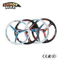 1 kit/pair 24/26 inch magnesium alloy 3 knife Disc brake mountain bike one piece wheel cassette or rotating flywheel